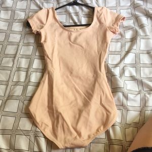 Capezio Other - Baby pink short sleeve leotard - Capezio, Small